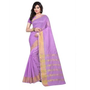 Mheart Cotton Silk Pink Saree With Blouse(mh015)