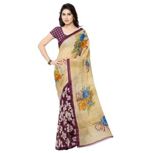 Georgette Sarees - Mheart georgette multicolor saree with blouse(mh013)