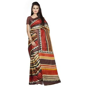 Mheart Art Silk Multicolor Saree Without Blouse(mh073)