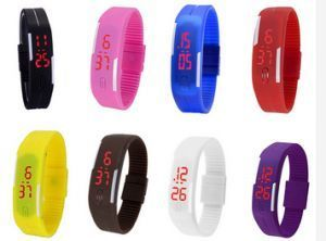 Watches - Pack Of 8 Multi Color Digital LED Watch For Mens And Womens