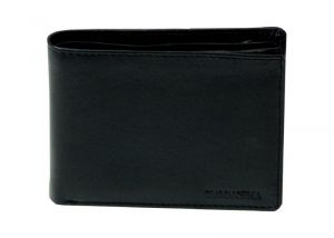 Navaksha Pure Soft Leather Black Wallet (ichw133)