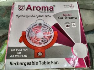 "Electrical Appliances - Heavy Duty 2 In 1 12"" Rechargeable Fan With Emergency Light"