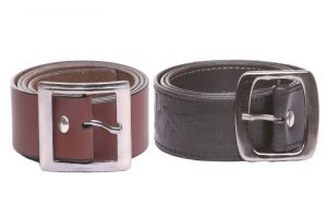 Formal Italian Leather Belt Black And Brown (combo)