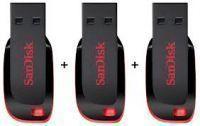 USB Pen Drives (8 GB) - Pack Of 3 8GB Sandisk Pen Drive