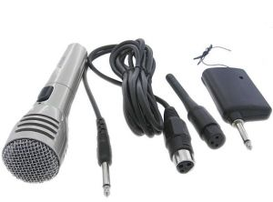 Cordless Microphone Also Cord Wireless/ Cordless Mic
