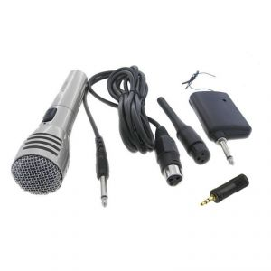 Krown Economical Cordless / Wireless Dynamic Microphone For Laptop/pc