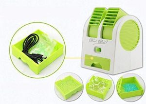 Air coolers - Mini Fragrance Air Conditioner Cooling Fan Green