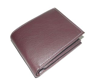 Pe Mens Pure Brown Pu Leather Wallet