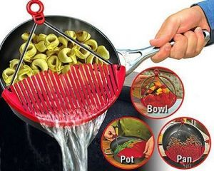 Kreativekudie Stainless Steel Pot Pan Drainer Expandable Strainer