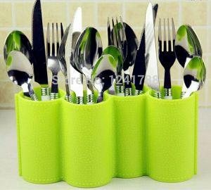 Kitchen racks & holders - KREATIVE KUDIE 4 section utensil holder