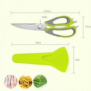 Kreativekudie Mighty Shears Kitchen Tool Clever Cutter Smart Chopper 10 In 1 Stainless Steel, Plastic Knife (pack Of 1)