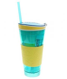 Kreativekudie Snackeez 2-in-1 Snack & Drink Cup ,travel Cup In One Container