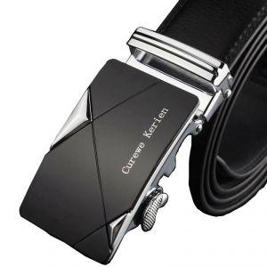 Men's Leather Belt With Automatic Buckle Trendy Men's Belts
