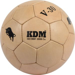 Kdm Sports V 30 Football - Size 5, Diameter 22 Cm (pack Of 1, Beige)