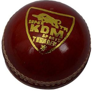 Kdm Sports Thunder Cricket Ball - Size 5, Diameter 7 Cm (pack Of 3, Red)