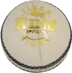 Kdm Sports Tiger Cricket Ball - Size 3, Diameter 7 Cm (pack Of 1, White)