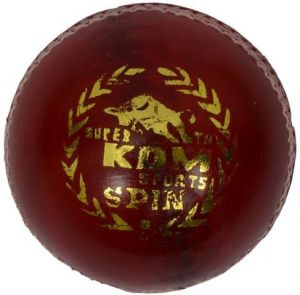 Kdm Sports Spin Cricket Ball - Size 5, Diameter 7 Cm (pack Of 1, Red)