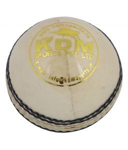 Kdm Sports Spark White Leather Ball