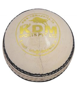Kdm Sports Tiger White Leather Ball