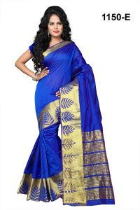 Mahadev Enterprises Blue Banarasi Silk Weaving Saree With Blouse Rjm1150e