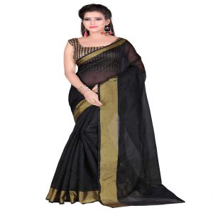 Mahadev Enterprises Black Bangalory Silk Saree With Unstitched Blouse Pics ( Code - M3bsbl02 )