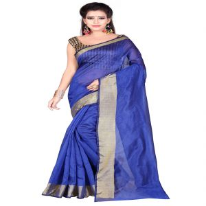 Mahadev Enterprises Blue Bangalory Silk Saree With Unstitched Blouse Pics ( Code - M3bsble07 )