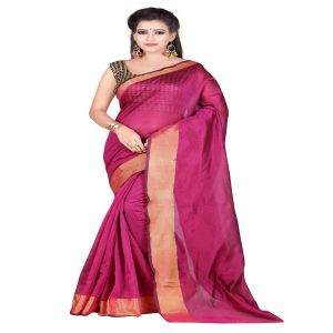Mahadev Enterprises Pink Bangalory Silk Saree With Unstitched Blouse Pics ( Code - M3bsp04 )