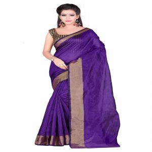 Mahadev Enterprises Purple Bangalory Silk Saree With Unstitched Blouse Pics ( Code - M3bspu05 )