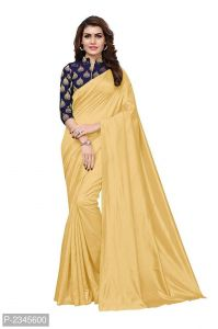 Mahadev Enterprises Beige Silk Saree With Jacquard Blouse Pics ( Code -bbc128b)