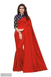 Mahadev Enterprises Red Silk Saree With Jacquard Blouse Pics ( Code -bbc128e)