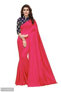 Mahadev Enterprises Pink Silk Saree With Jacquard Blouse Pics ( Code -bbc128f)