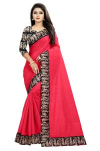 Mahadev Enterprises Peach Chanderi Cotton Saree With Running Blouse Pics ( Code - Bbc135g)