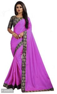 Mahadev Enterprise Purple Paper Silk Saree With Running Blouse Pic(code-bbc136b)