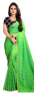 Mahadev Enterprise Green Panther Plain Silk Saree With Jacquard Blouse Pics ( Code -bbc137a)