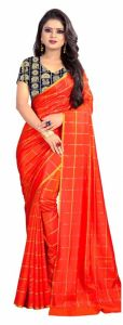 Mahadev Enterprise Red Panther Plain Silk Saree With Jacquard Blouse Pics ( Code -bbc137e)
