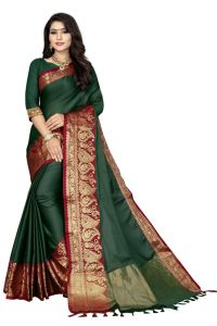 Mahadev Enterprise Multicoloured Soft Cotton Saree With Running Blouse Pics ( Code -bbc148b)