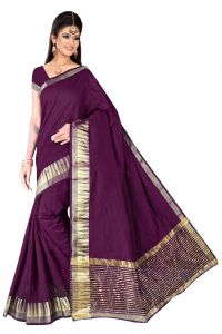 Mahadev Enterpries Eggplant Supernet Saree (bbc- Code 66 )