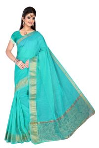Mahadev Enterpries Rama Supernet Saree With Running Blouse ( Code- Bbc70 )
