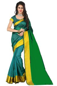 Mahadev Enterprises Green Bangalori Silk Saree Meb_01