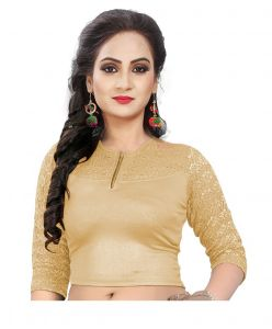 Mahadev Enterprises Gold Pure Cotton Lycra With Net Readymade Blouse ( Code - Mps175 )