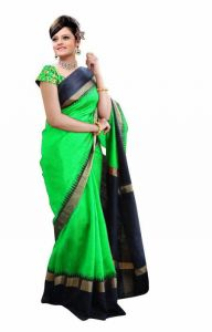 Mahadev Enterprises Sea_green Color Bhagalpuri Silk Saree With Unstitched Blouse Pics Mncs1808