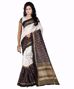 Mahadev Enterprises Multicolor Bhagalpuri Silk Saree With Blouse Pics ( Code Pf122 )