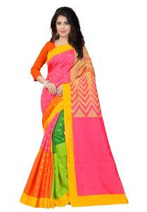 Mahadev Enterprises Multicolor Bhagalpuri Silk Saree With Blouse Pics ( Code - Pf124 )