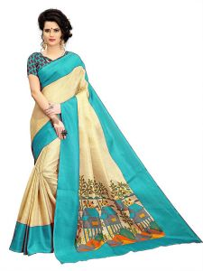 Mahadev Enterprises Chicku & Firozi Super Stabery Soft Silk Saree With Unstitched Blouse Piece (code - Pf173)