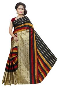 Mahadev Enterprises Multicolor Cotton Silk Saree With Unstitched Blouse Pics Pf28