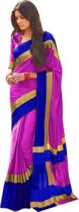 Mahadev Enterprises Pink Color Cotton Saree With Unstitched Blouse Pics Pf43