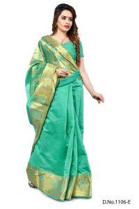 Banarasi Sarees - Mahadev Enterprises Light_Green Color Banarasi Silk Weaving Saree With Blouse RJM1106E