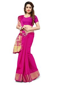 Mahadev Enterprise Pink Banarasi Silk Weaving Saree With Running Blouse Pics ( Code - Rjm1111h)