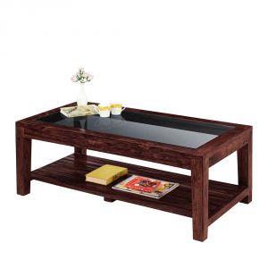 Inhouz Sheesham Wood Renitta Coffee Table (Mahogany Finish)