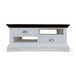 Inhouz Sheesham Wood White Pearl Coffee Table